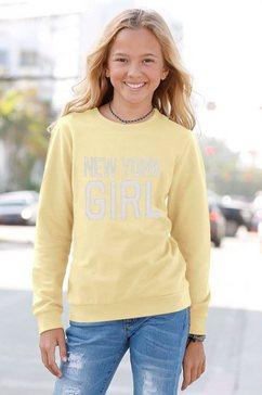 kidsworld sweatshirt new york girl met applicatie geel