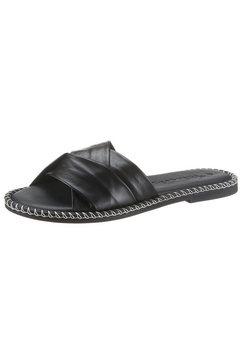 tamaris slippers tollia met mooie kruisbandjes zwart