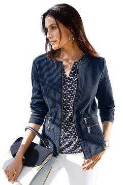 classic inspirationen blazer in jeans-look blauw