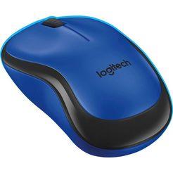 logitech »m220 silent« muis, 2,4 ghz (draadloos, 1000 dpi) blauw