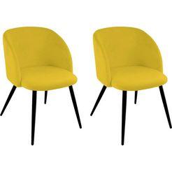 stoel met armleuningen dali (set, 2 stuks) geel