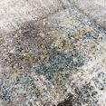 sanat hali vloerkleed lorena 2903 met de hand gesneden relifpatroon, woonkamer grijs