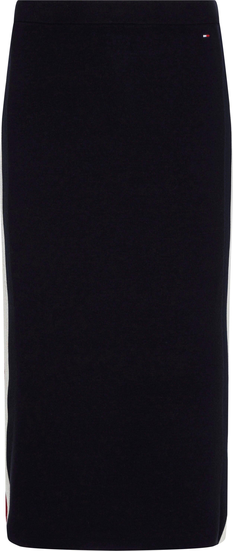 Tommy Hilfiger gebreide rok Global Stripe Fitted Midi Skirt bij OTTO online kopen