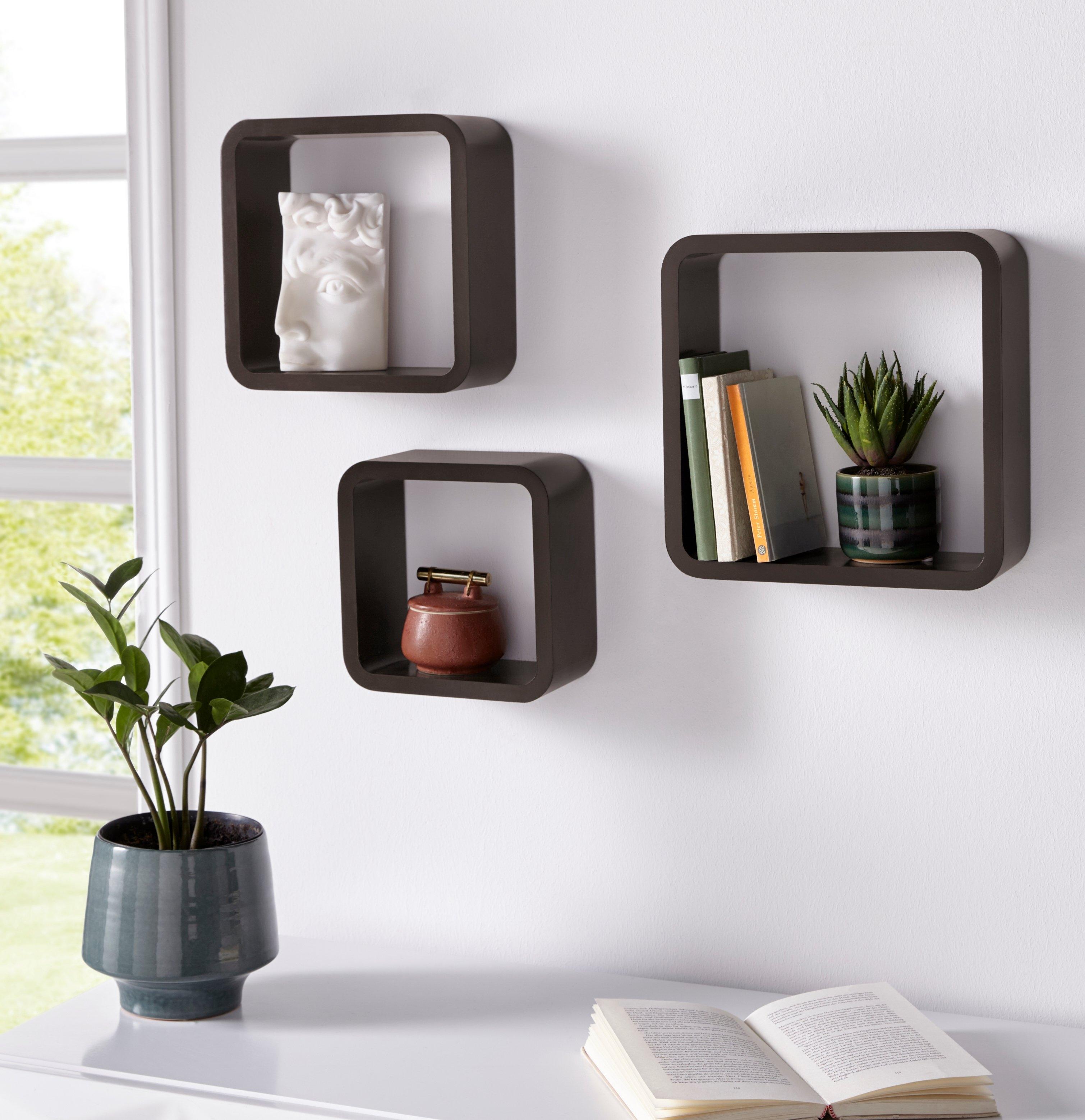 Home affaire Wandrek Decoratief rek, wanddecoratie, retro (set, 3 stuks) bij OTTO online kopen