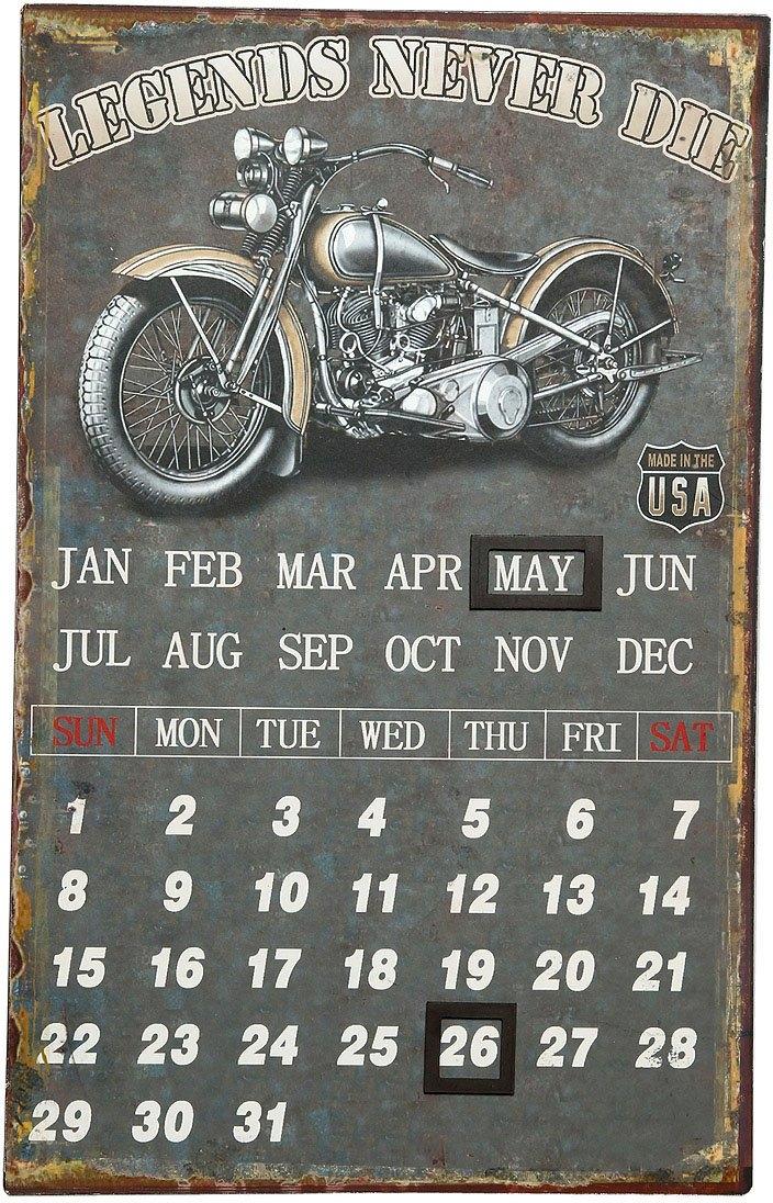 Ambiente Haus Metalen artprint kalender - biker 25x40cm (1 stuk) goedkoop op otto.nl kopen