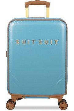suitsuit harde trolley met 4 wieltjes, »fab seventies, 55 cm« blauw