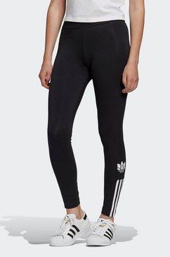 adidas originals legging »adicolor 3d trefoil« zwart
