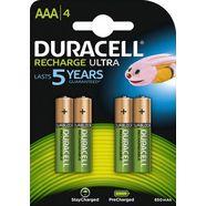 duracell batterij recharge ultra micro aaa hr03 (set, 4 stuks) groen