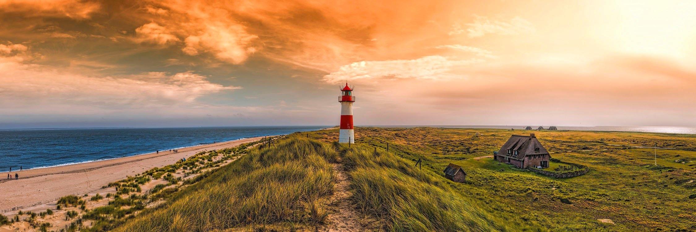 Spiegelprofi GmbH artprint op linnen Lighthouse (1 stuk) veilig op otto.nl kopen