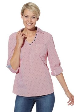 casual looks blouse zonder sluiting rood