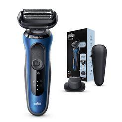 braun »series 6 60-b1200s« elektrisch scheerapparaat blauw