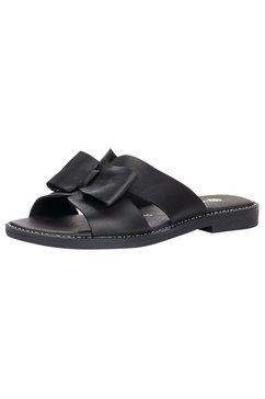 remonte slippers met modieuze strik zwart