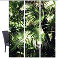 vision paneelgordijn jungola set van 3 bamboe-look, digitaal bedrukt (3 stuks) groen