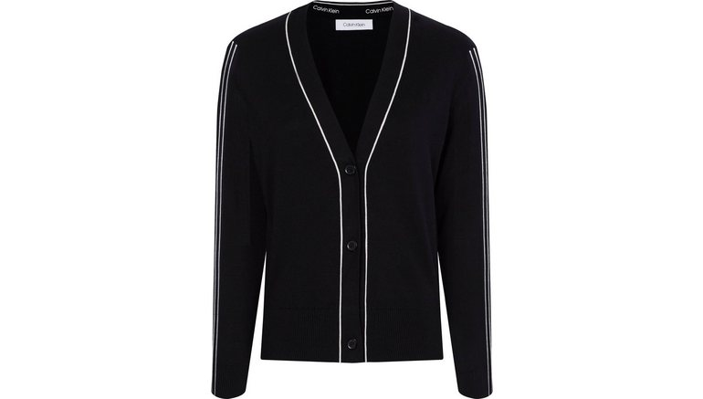 Calvin Klein vest met contrastkleurige paspels
