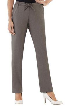 alessa w. broek in linnen-look bruin