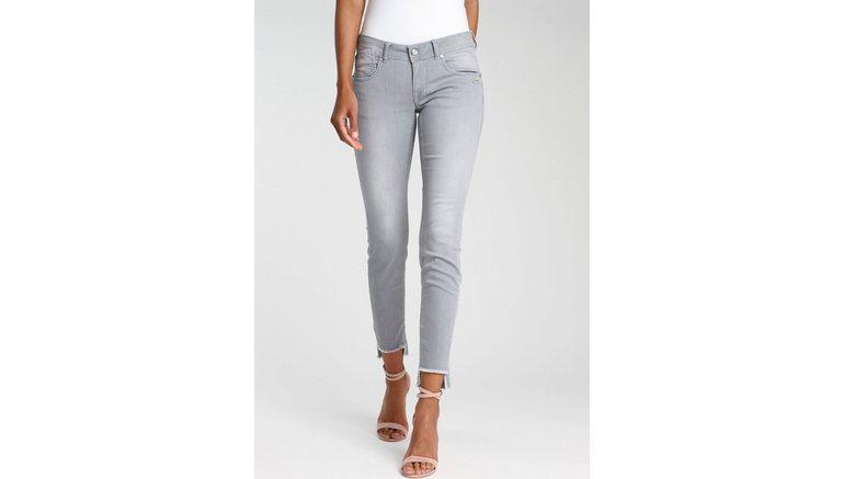 GANG ankle jeans FAYE-GA met licht gerafelde rand