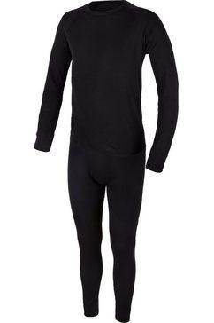 cmp hemd ski-ondermodeset (set, 2 stuks, met functionele onderbroek) zwart