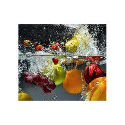 wall-art kookplaatdeksel keuken kookplaatafdekblad fruit (set, 2-delig) multicolor