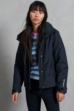 superdry windbreaker hurricane jas met fleecevoering blauw