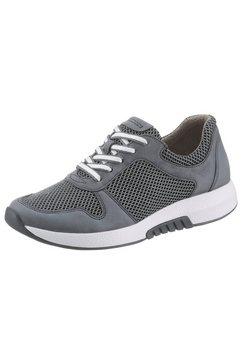 gabor rollingsoft sneakers met sleehak met verwisselbaar optifit-voetbed grijs