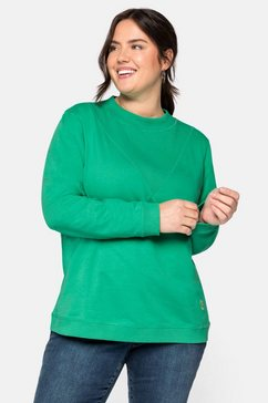 sheego casual sweatshirt groen