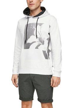 q-s designed by hoodie met logoprint wit