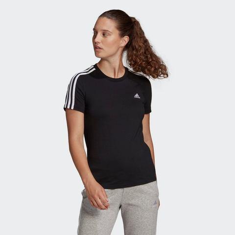 NU 15% KORTING: adidas Performance T-shirt ESSENTIALS SLIM 3-STREIFEN