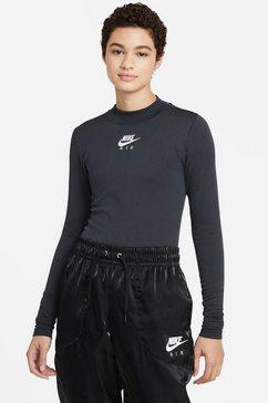 nike sportswear shirt met lange mouwen »nike air women's mock neck long sleeve« zwart