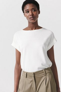 someday t-shirt kay texture in honingraatstructuur wit