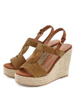 lascana highheel-sandaaltjes bruin