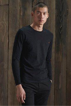 superdry shirt met lange mouwen »ol vintage emb ls top ns,« zwart