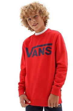 vans sweatshirt vans classic crew boys rood
