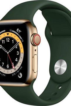 apple »series 6, gps + cellular, oled, touchscreen, 32 gb, 40mm« watch groen