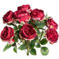 botanic-haus kunstbloem engelse rozenstruik (1 stuk) rood