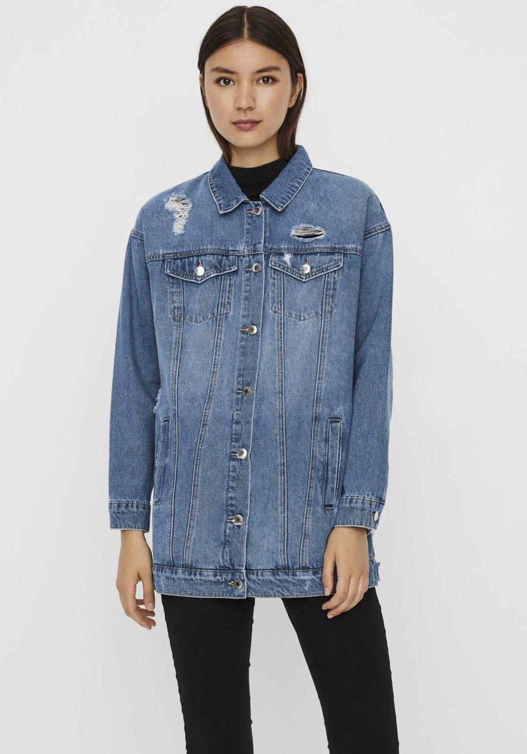 Vero Moda jeansjack VMOLIVIA met destroyed-effecten nu online kopen bij OTTO