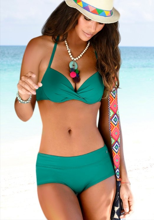 s.Oliver RED LABEL Beachwear Bikini-hotpants Spain unikleur bij OTTO online kopen