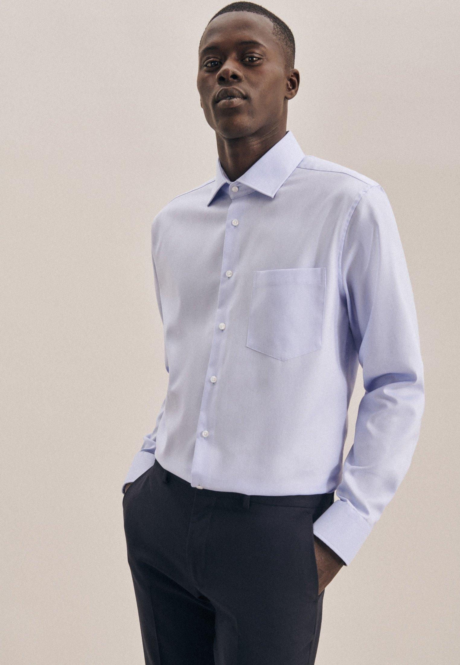 seidensticker businessoverhemd Regular Regular lange mouwen kentkraag uni bij OTTO online kopen