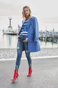 aniston casual trenchcoat blauw