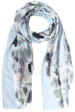 tamaris sjaaltje met trendy print blauw