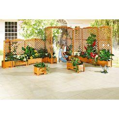 houten trellis »romantica «, met plantenbak, 120x140 cm