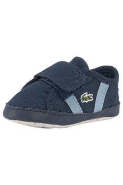 lacoste babyschoentjes »sideline crib 0120« blauw