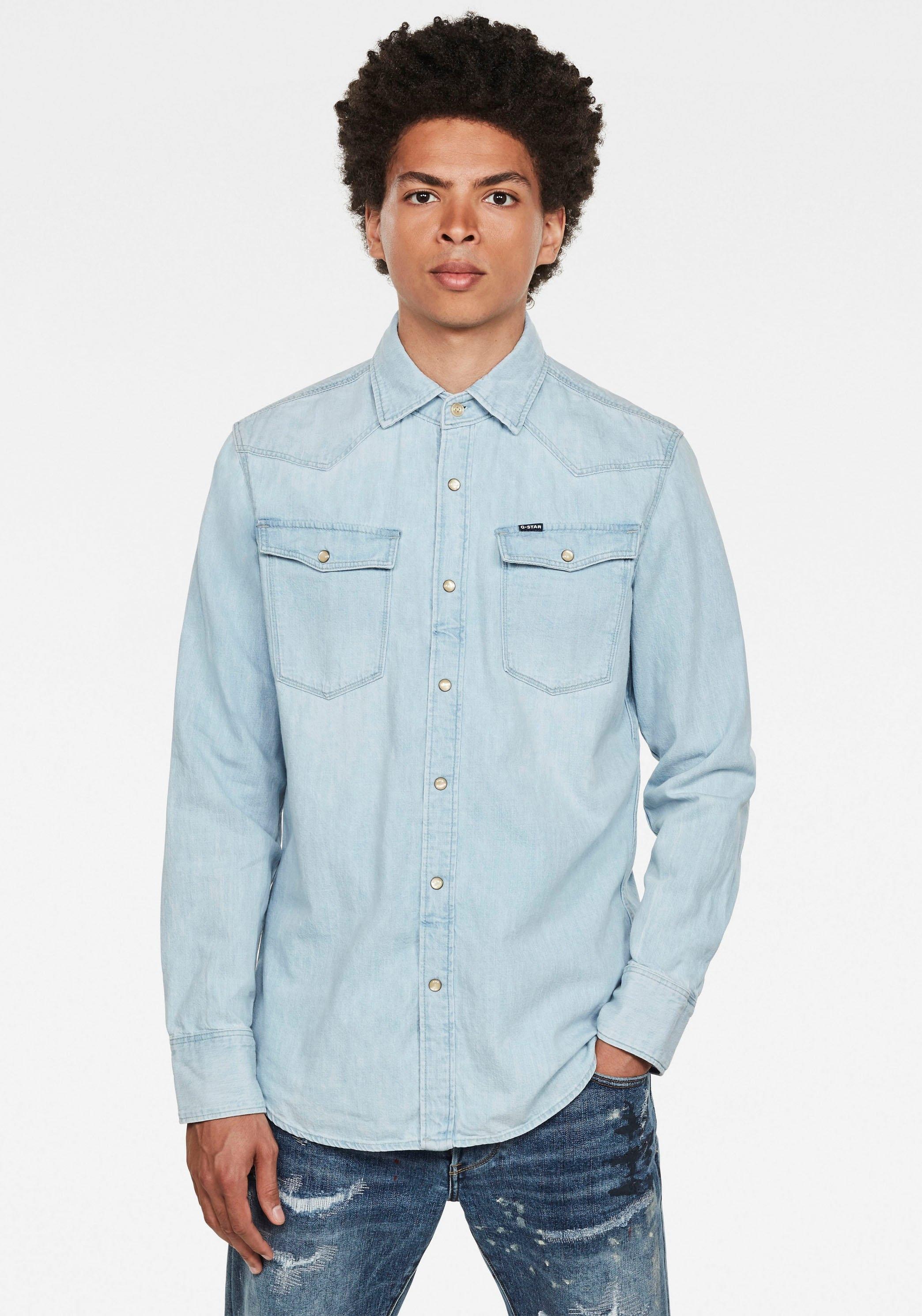 G-Star RAW jeansoverhemd Denim Slim Shirt goedkoop op otto.nl kopen