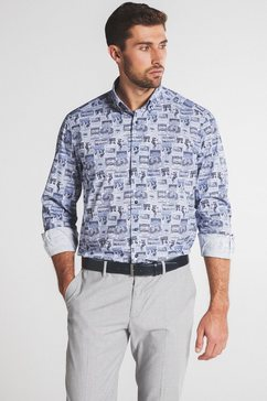 eterna businessoverhemd comfort fit lange mouwen blauw