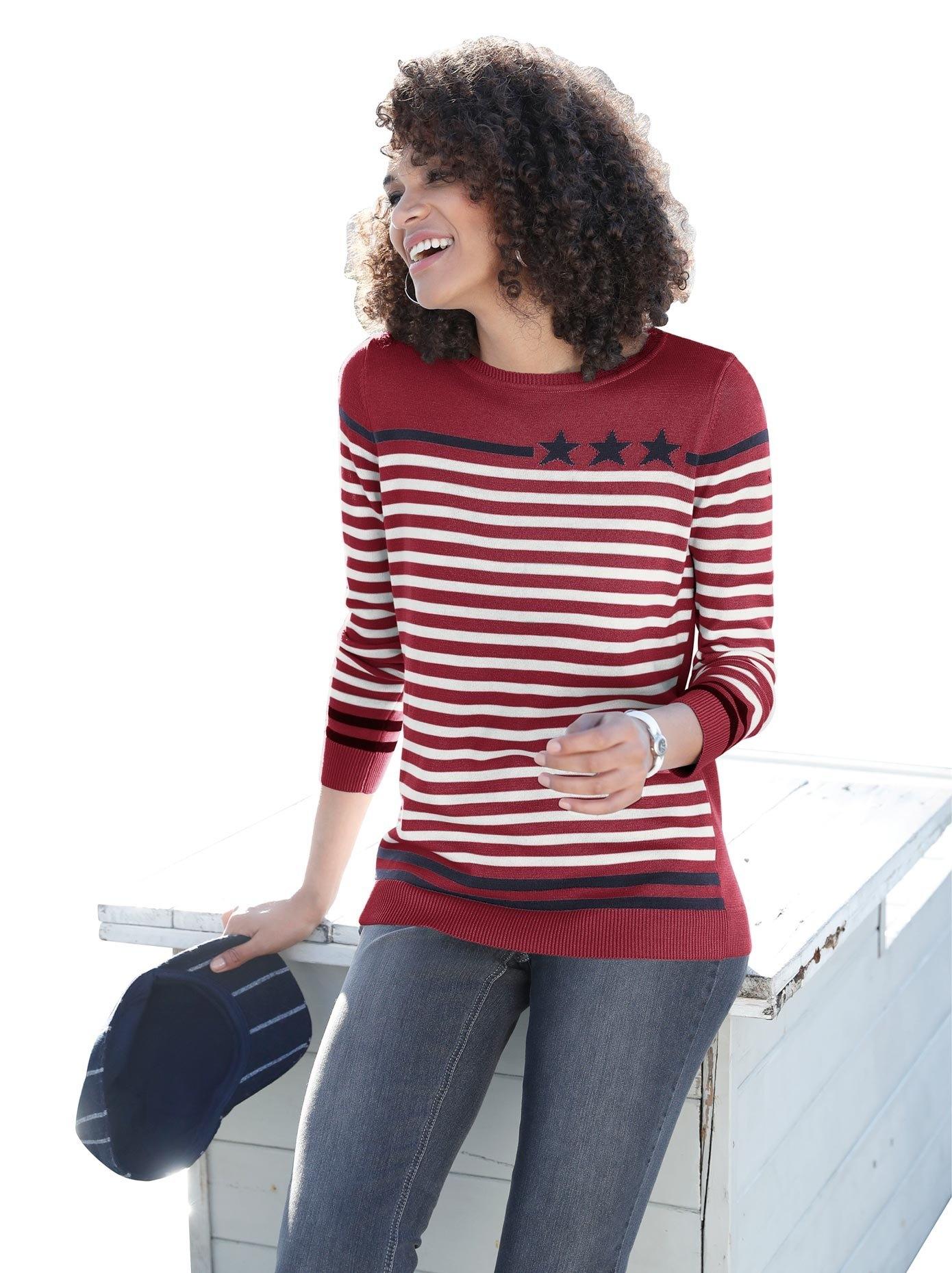Casual Looks trui met een ronde hals nu online bestellen