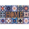 home affaire mat home wandtegels inloopmat, met quote, geschikt voor binnen en buiten multicolor