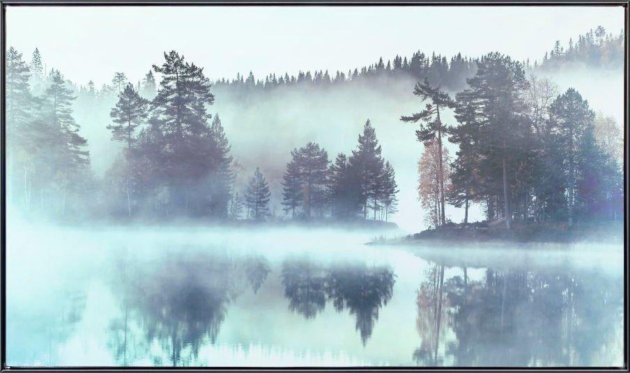 artprint op linnen »Meer im Wald Im Nebel - Leinwandbild« goedkoop op otto.nl kopen