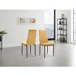 inosign stoel remus (set, 1 stuk) geel