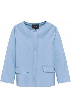 opus korte blazer jelina joyful modieuze, puristische snit blauw