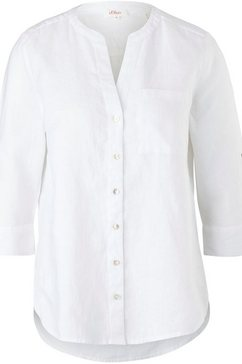 s.oliver overhemdblouse met opstaande kraag wit