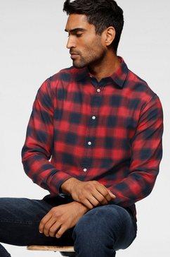 jack  jones geruit overhemd »jack  jones karohemd tango red« rood
